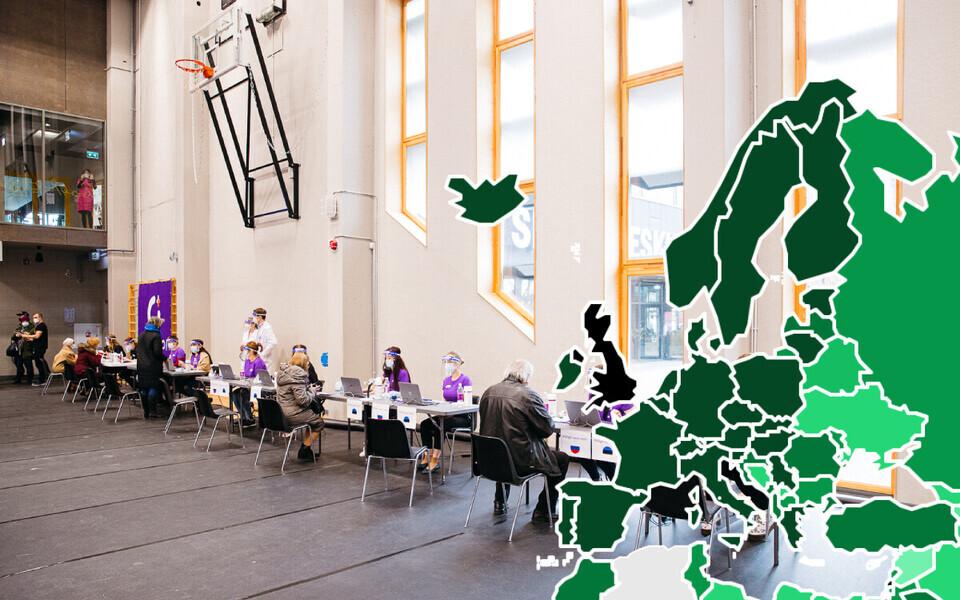 Baltimaadest on jõudnud kõige suurema osa oma elanikkonnast hõlmata Leedu.