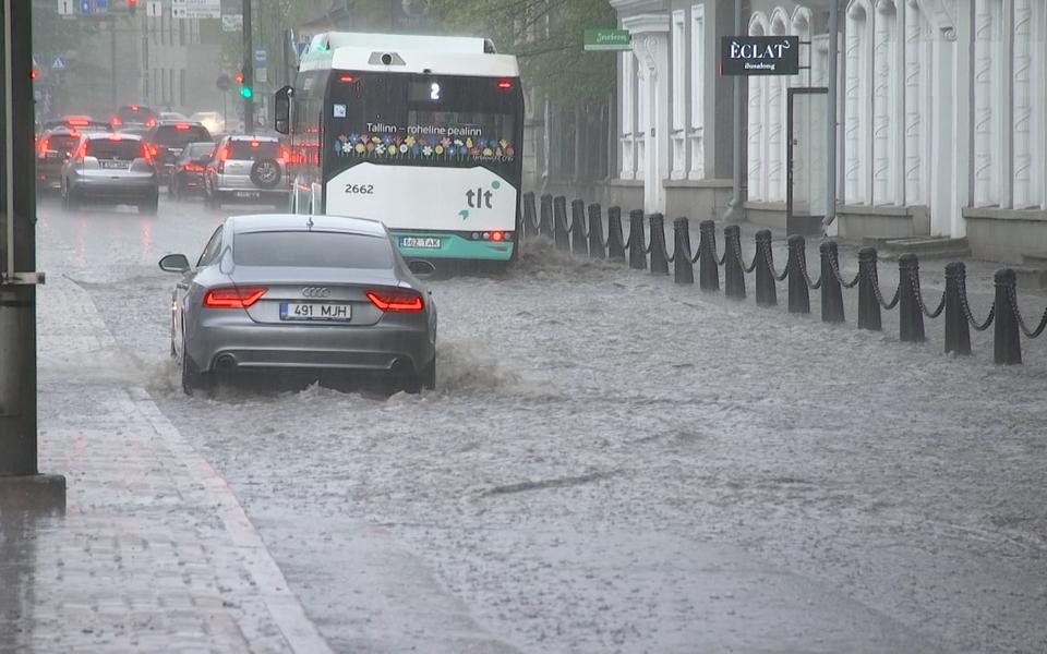 Дождь в Таллинне.