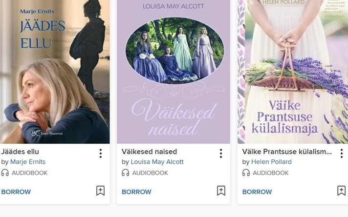 Tallinna keskraamatukogu pakub võimalust laenata eestikeelseid audioraamatuid,