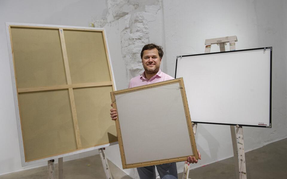 Tartu noore kunsti oksjoni eestvedaja Reigo Kuivjõgi.