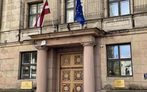 Здание министерства финансов в Риге.