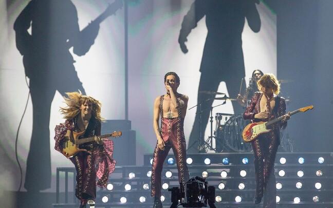 Måneskini teine lavaproov Eurovisioonil
