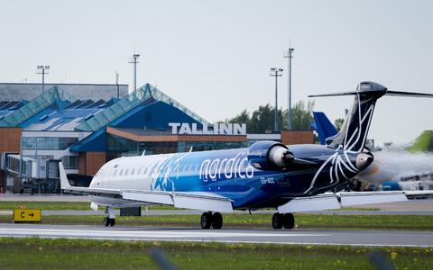 A Nordica plane at Tallinn Airport.