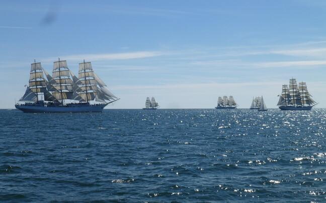 2017's Tall Ships Race in progress.