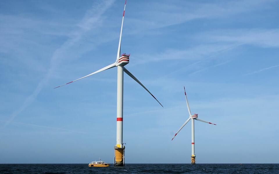 Belgia rannikust 30 km kaugusel olev Thortonbanki tuulepark.
