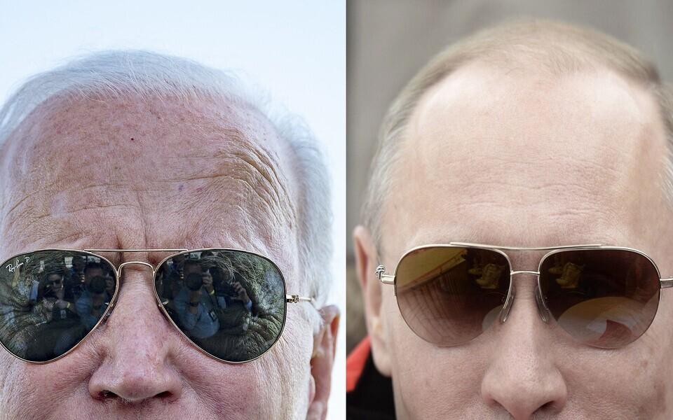 Джо Байден и Владимир Путин. Фото иллюстративное.