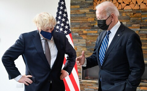 Премьер-министр Британии Борис Джонсон и президент США Джо Байден.