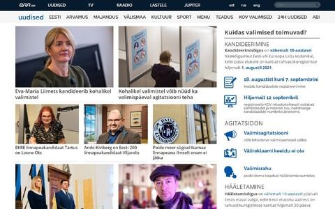 Kohalike valimiste veebileht.