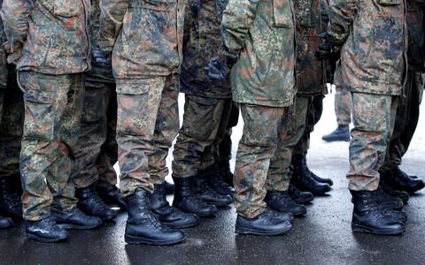 Немецкие военные в Литве.