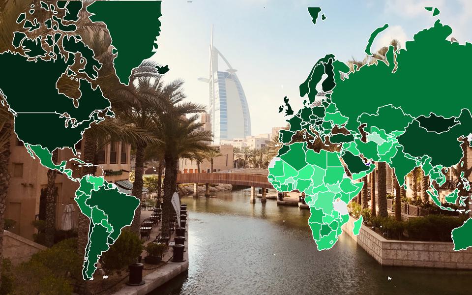 Kõige suurem on vaktsineeritute osakaal Araabia Ühendemiraatides,