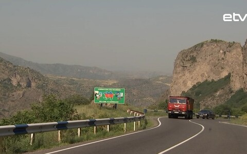 Граница Армении и Азербайджана.
