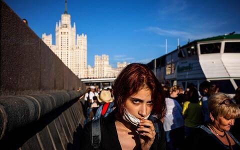 Люди в Москве.