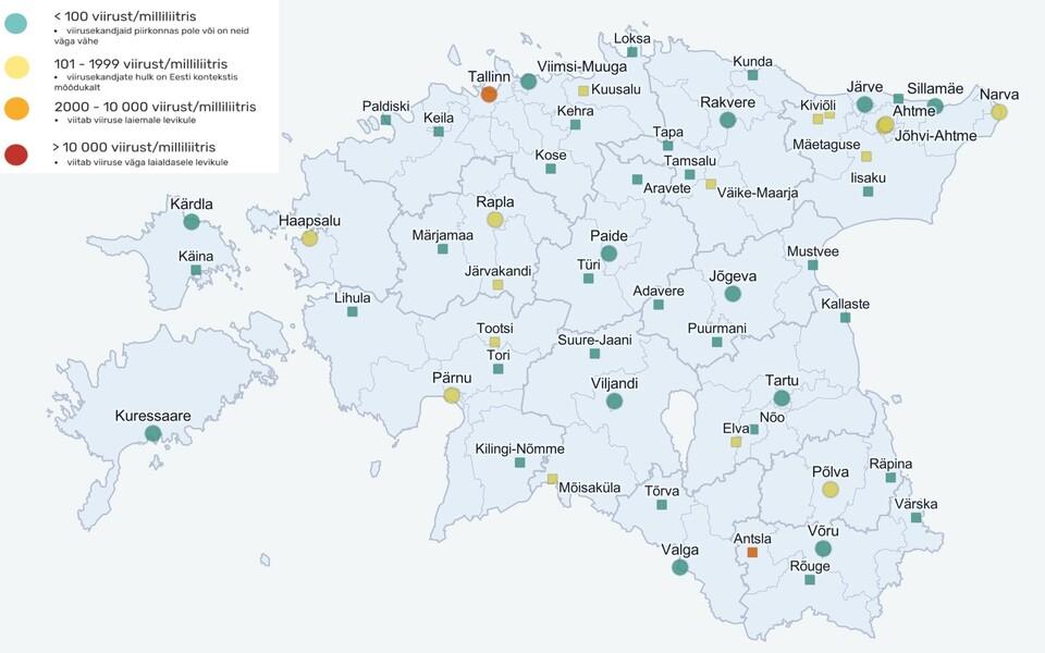Reoveeuuringu kaart, mis iseloomustab ajavahemikku 14.-18. juuni