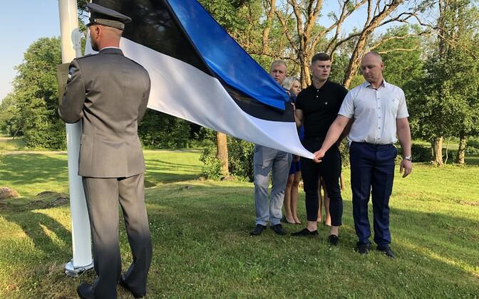 Jõõdre lipumasti pühitsustseremoonia