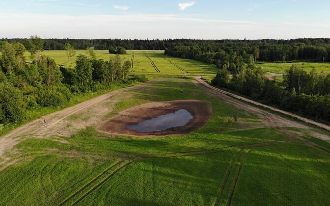 Langatused Alutaguse vallas, Estonia kaevanduse varing Pagaril.