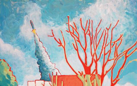 """""""Lõpu algus Hackneys"""" 180x140cm, akrüül lõuendil"""