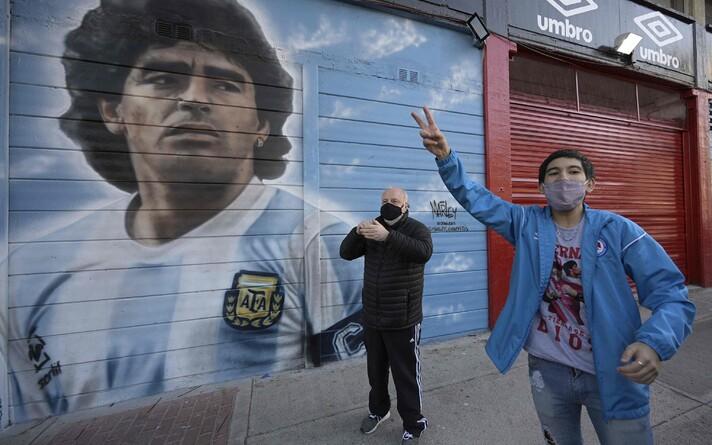 Joonistus Diego Maradonast