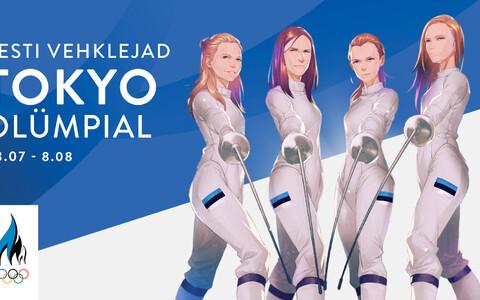 Японский художник MONQ изобразил эстонских олимпийских спортсменов в виде героев аниме.