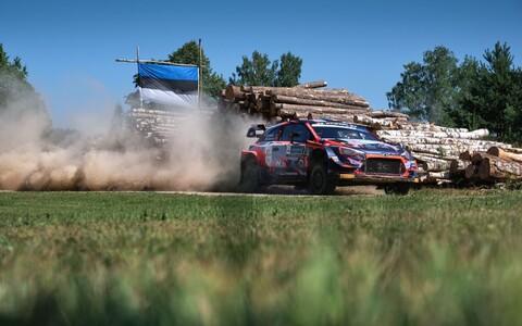 Hyundai sõitja Pierre-Louis Loubet Rally Estonial