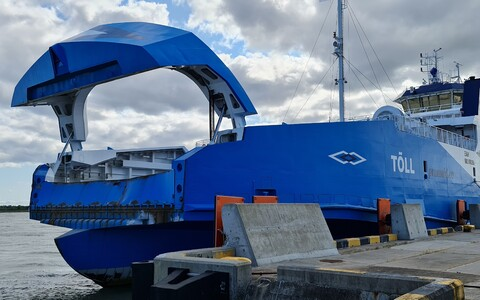The Tõll ferry after Wednesday's incident.