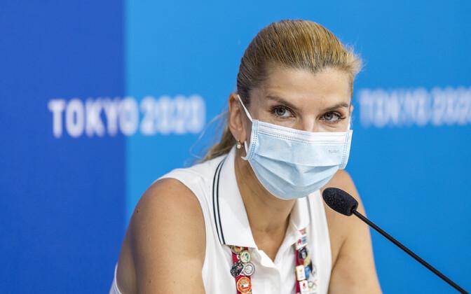 Dina Ellermann Tokyo OM-i pressikonverentsil