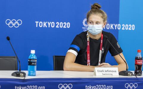 Eneli Jefimova Tokyo OM-i pressikonverentsil