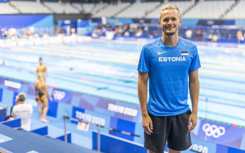 Kregor Zirk at the Tokyo Olympics.