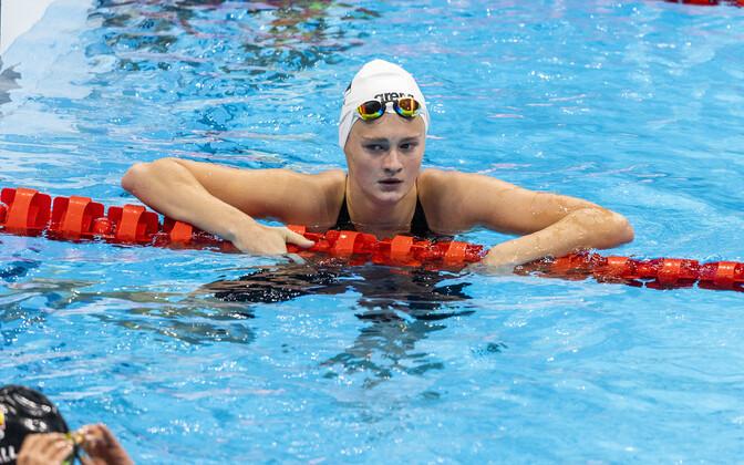 Eneli Jefimova at the olympics in Tokyo.
