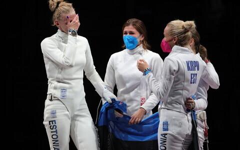 Эстонские шпажистки выиграли золото командного олимпийского турнира.