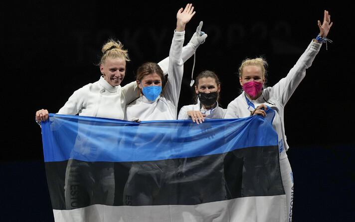 Сборная Эстонии по фехтованию на шпагах.