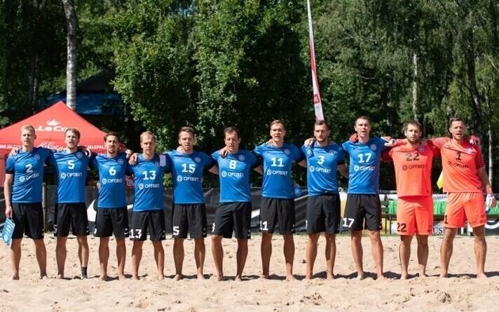 Сборная Эстонии по пляжному футболу.