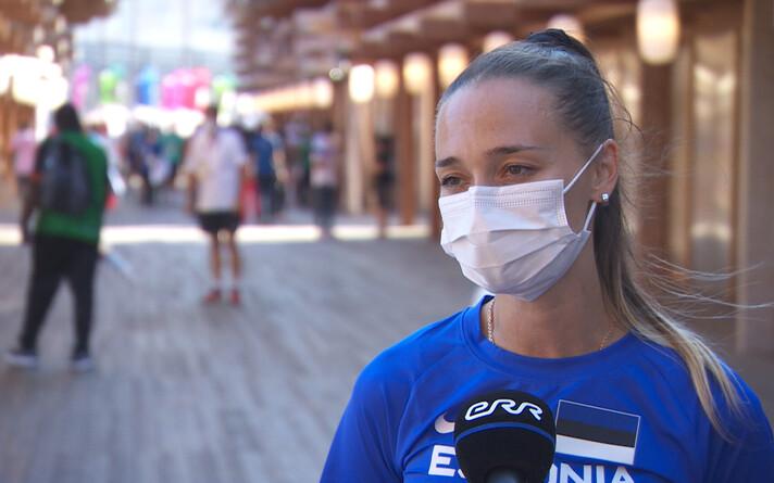 Ксения Балта на Олимпиаде в Токио.