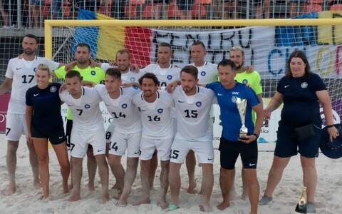 Сборная Эстонии по пляжному футболу заняла в Кишиневе второе место.
