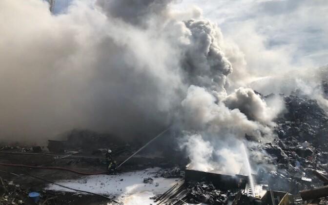 Пожар на территории BLRT.