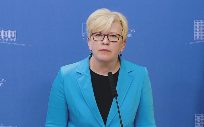 Премьер-министр Литвы Ингрида Шимоните.