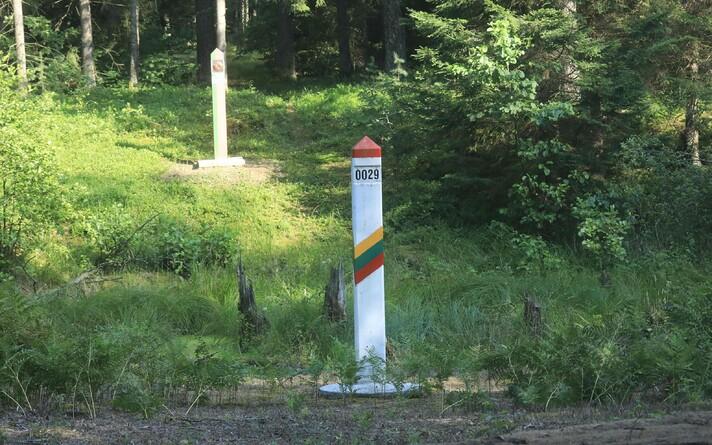Литовско-белорусская граница.