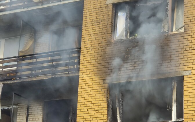 Aftermath of Tartu apartment building gas explosion.