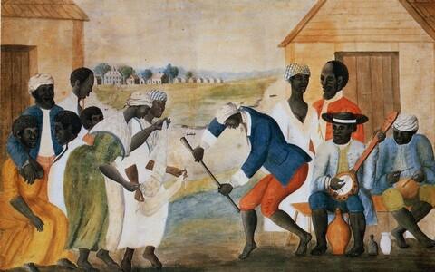 Arvatavalt Ameerika orjapidaja John Rose'i maalitud Vana istandus, loodud arvatavasti ajavahemikus 1785-1795.