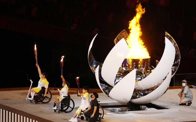Tokyo paraolümpia avatseremoonia.
