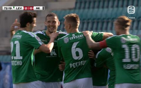 FCI Levadia mängijad tähistamas Bogdan Vaštšuki väravat