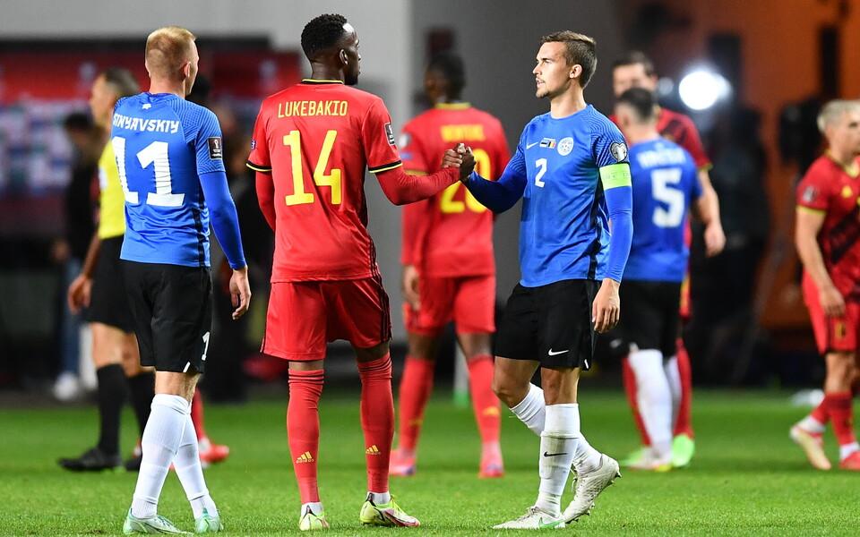 Jalgpalli MM-finaalturniir: Eesti - Belgia