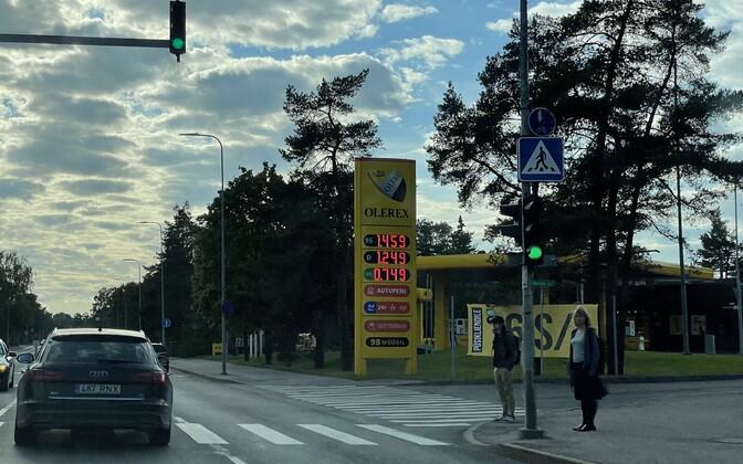 Kütusehinnad Tallinnas 6. septembril