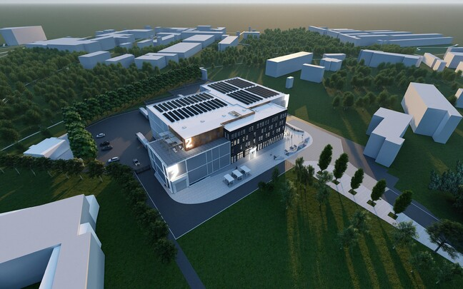 A rendering for the film campus