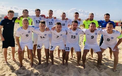 Estonian national beach soccer team.