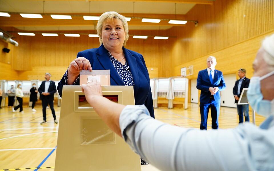 Премьер-министр Норвегии Эрна Солберг.