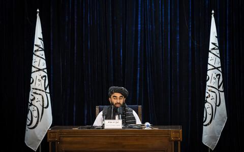 Официальный представитель правительства талибов Забихулла Муджахид.