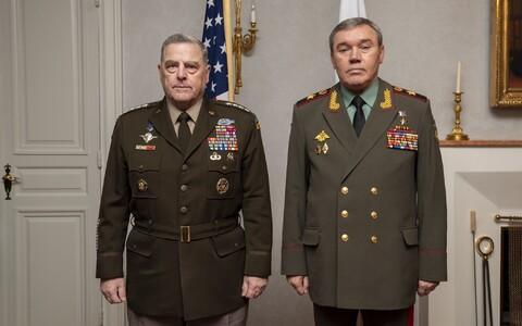 Марк Милли и Валерий Герасимов на встрече в Хельсинки.
