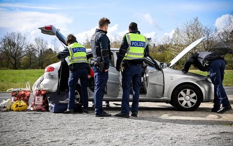 Проверка на границе Германии и Нидерландов.