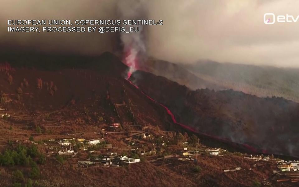 Vulkaan La Palma saarel