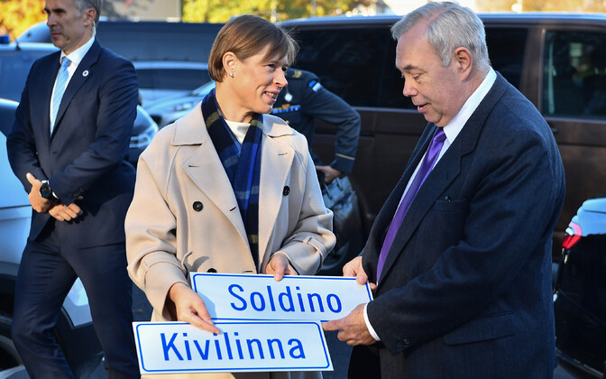 Kersti Kaljulaid in Narva.